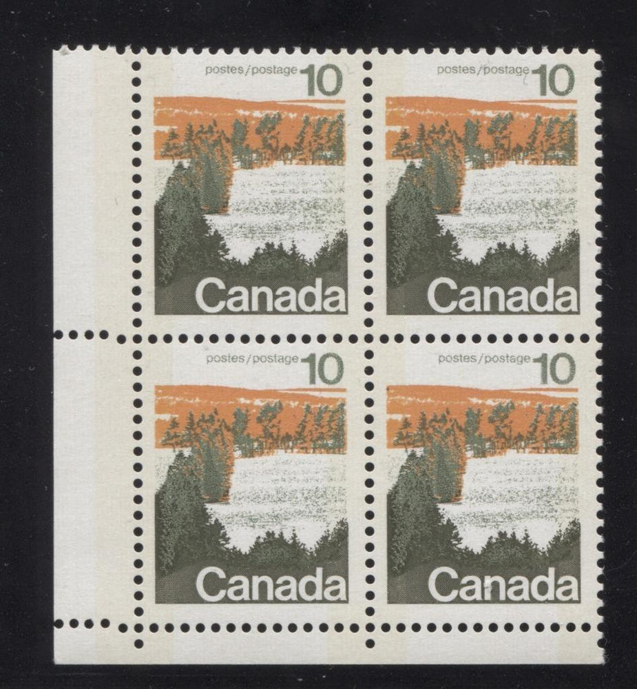 Canada #594iii (SG#702p) 10c Forest 1972-1978 Caricature Issue Type 1, W2B Tag, Paper Type 5 Blank LL VF-75 NH Brixton Chrome
