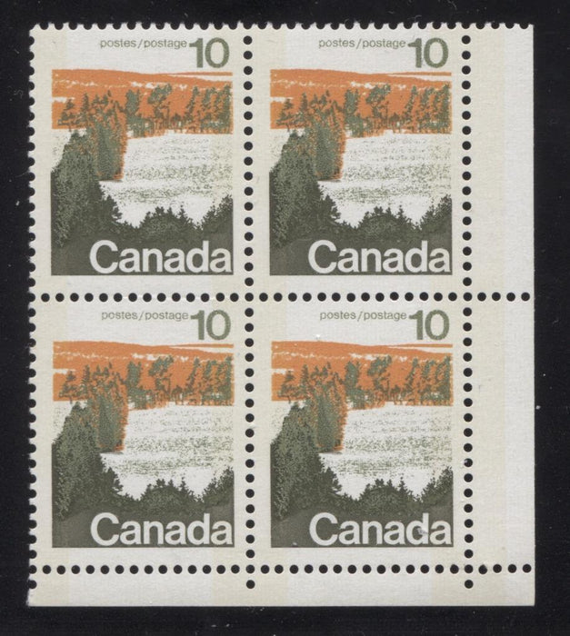 Canada #594iii (SG#702p) 10c Forest 1972-1978 Caricature Issue Type 1, W2B Tag, Paper Type 5 Blank LR F-70 NH Brixton Chrome