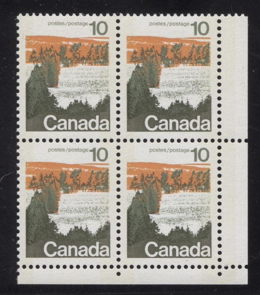 Canada #594iii (SG#702p) 10c Forest 1972-1978 Caricature Issue Type 1, W2B Tag, Paper Type 5 Blank LR VF-84 NH Brixton Chrome