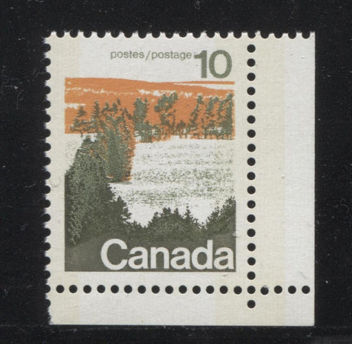 Canada #594iii (SG#702p) 10c Forest 1972-1978 Caricature Issue Type 1, W2B Tag, Paper Type 9 VF-84 NH Brixton Chrome