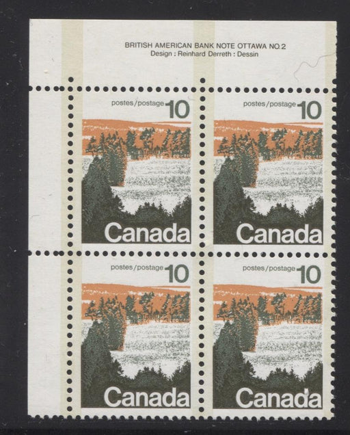 Canada #594viii (SG#702a) 10c Forest 1972-1978 Caricature Issue Type 2, Perf. 12.5 x 12, GT-2 OP-2 Tagging Paper Type 2 Plate 2 UL VF-84 NH Brixton Chrome