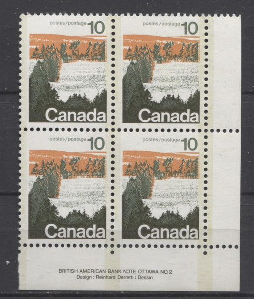 Canada #594x (SG#702a) 10c Forest 1972-1978 Caricature Issue Type 2, Perf. 12.5 x 12, GT-2 OP-2 Tagging Paper Type 4 Plate 2 LR VF-75 NH Brixton Chrome
