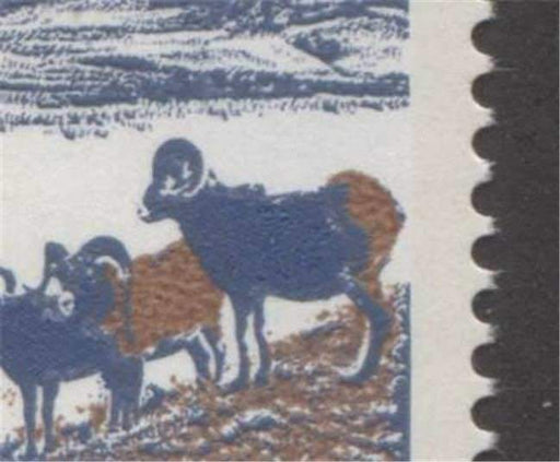 Canada #595aii (SG#703b) 15c Mountain Sheep 1972-1978 Caricature Issue Type 2, Plate 2 LL Raised Rump Variey LF/F Paper Type 2 F-70 NH Brixton Chrome