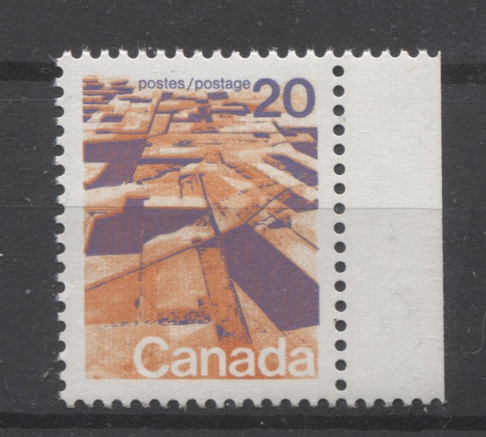 Canada #596 (SG#704) 20c Prairies 1972-1978 Caricature Issue GT-2 OP-4 Tagging Paper Type 10 VF-84 NH Brixton Chrome
