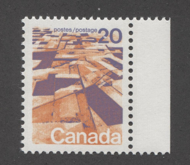 Canada #596 (SG#704) 20c Prairies 1972-1978 Caricature Issue GT-2 OP-4 Tagging Paper Type 9 VF-80 NH Brixton Chrome