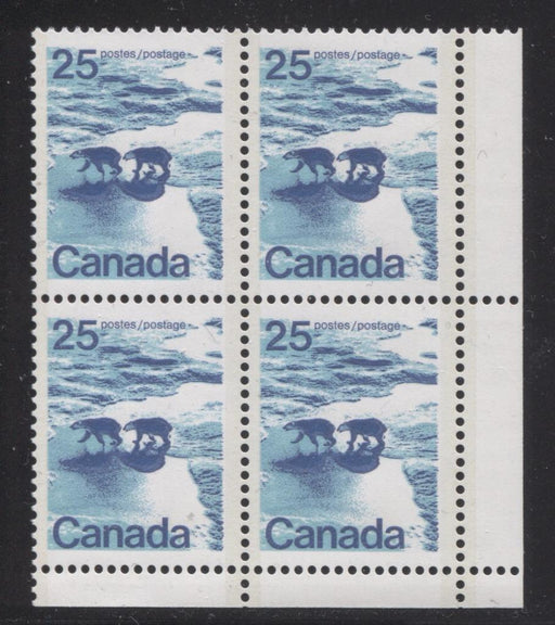 Canada #597a (SG#705b) 25c Polar Bears 1972-1978 Caricature Issue, Type 2, Perf. 13.3, GT-2 OP-2 Tagging DF/LF Paper Type 1 Blank LR VF-75 NH Brixton Chrome