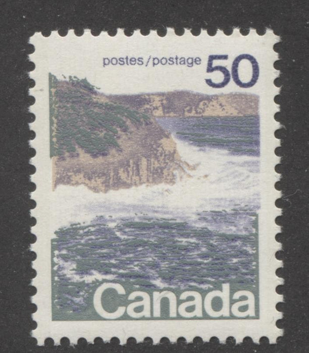 Canada #598 (SG#706) 50c Seashore 1972-1978 Caricature Issue, Type 1, GT-2 Migrated OP-4 Tagging, Ribbed Paper VF-84 NH Brixton Chrome