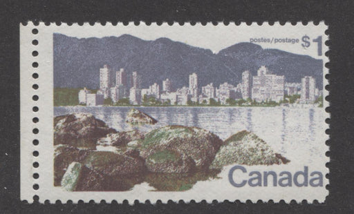 Canada #600 (SG#707) $1 Vancouver 1972-1978 Caricature Issue Paper Type 10 F-70 NH Brixton Chrome