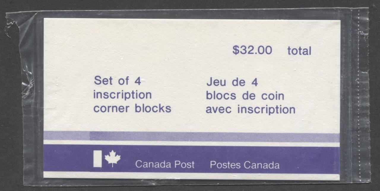 Canada #601 (SG#708) $2 Quebec 1972-1978 Caricature Issue Paper Type 9 Plate 2 Sealed Pack of Plate Blocks VF-80 NH Brixton Chrome