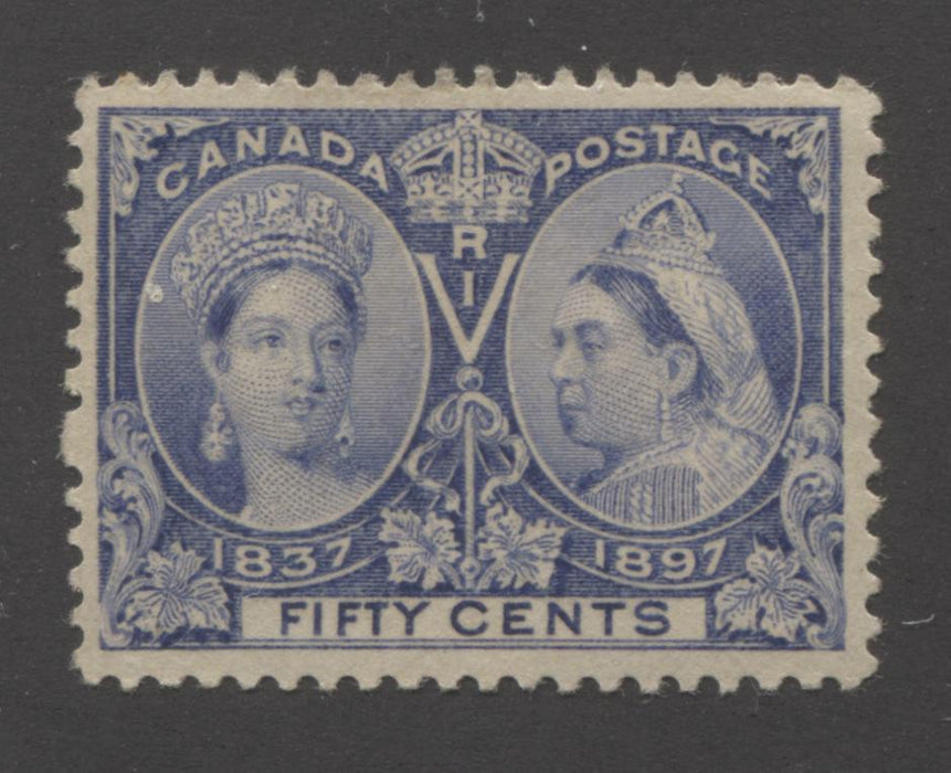 Canada #60i 50c Deep Ultramarine Queen Victoria, 1897 Diamond Jubilee Issue, Very Fine OG Single Brixton Chrome