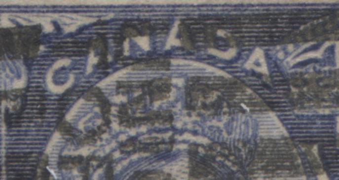 Canada #60i 50c Deep Ultramarine Queen Victoria, 1897 Diamond Jubilee Issue Very Good Used Single Showing Unlisted Extensive Re-Entry Brixton Chrome