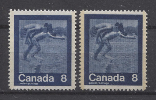 "Canada #629 (SG#768) 8c Dark Blue 1974 Summer Sports Issue ""Swimming"" Paper/Tag Types 3 & 5 VF-80 NH Brixton Chrome"