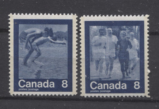 "Canada #629i-630i (SG#768-769) 1974 Summer Sports ""Swimming & Jog"" Paper/Tag Type 2 VF-75 NH Brixton Chrome"