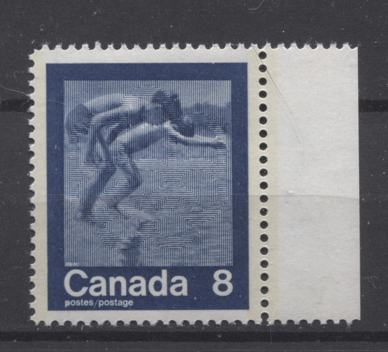 "Canada #629i (SG#768) 8c Dark Blue 1974 Summer Sports Issue ""Swimming"" Paper/Tag Type 2 VF-80 NH Brixton Chrome"