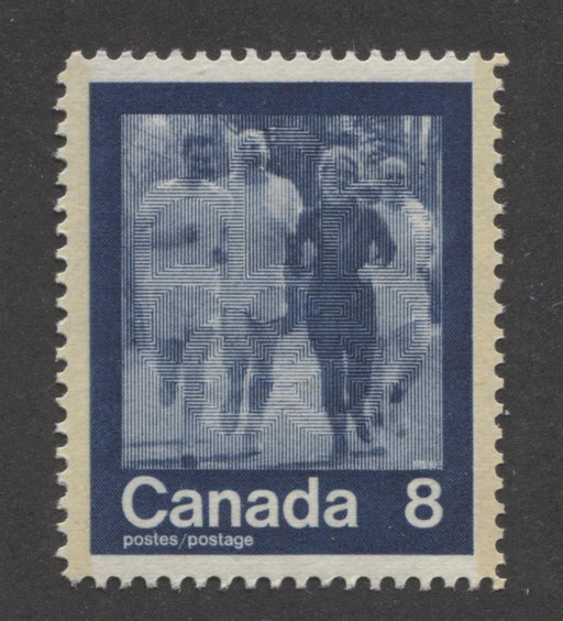 "Canada #630 (SG#769) 8c Dark Blue 1974 Summer Sports Issue ""Jogging"" Paper/Tag Type 5 VF-84 NH Brixton Chrome"