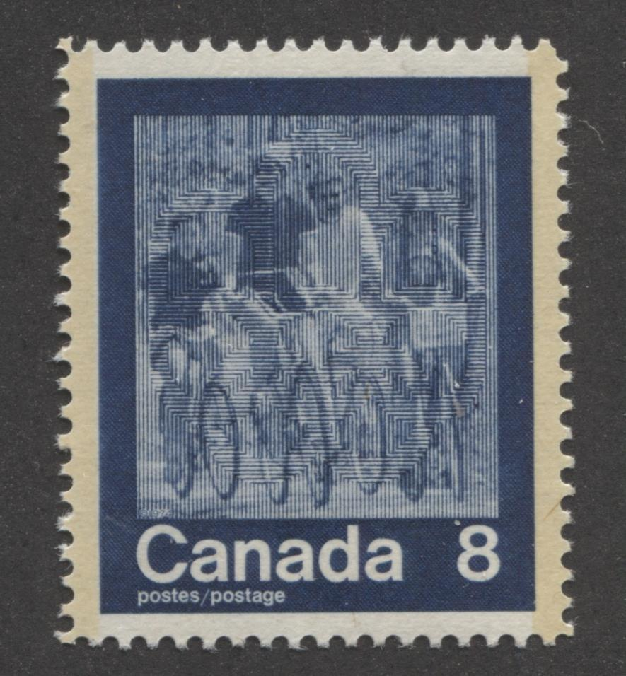 "Canada #631 (SG#770) 8c Dark Blue 1974 Summer Sports Issue ""Cycling"" Paper/Tag Type 8 VF-80 NH Brixton Chrome"