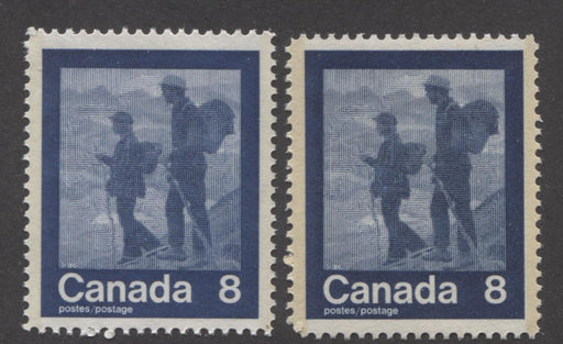 "Canada #632 (SG#771) 8c Dark Blue 1974 Summer Sports Issue ""hiking"" Paper/Tag Types 3 & 5 VF-80 NH Brixton Chrome"