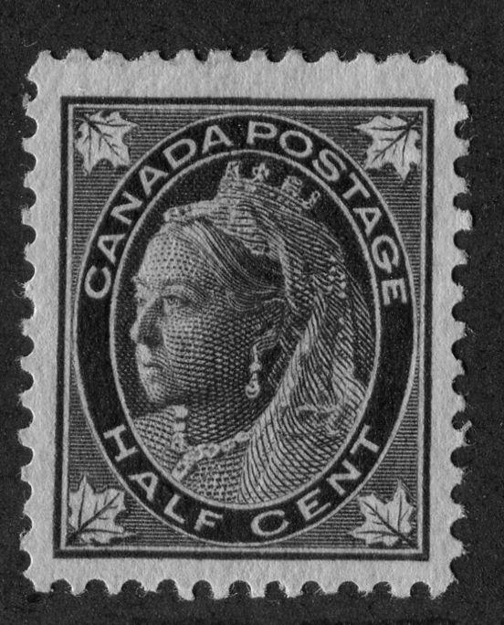 Canada #66 (SG#142) Half Cent Black 1897-1898 Maple Leaf Issue Vertical Wove VF-80 OG Brixton Chrome