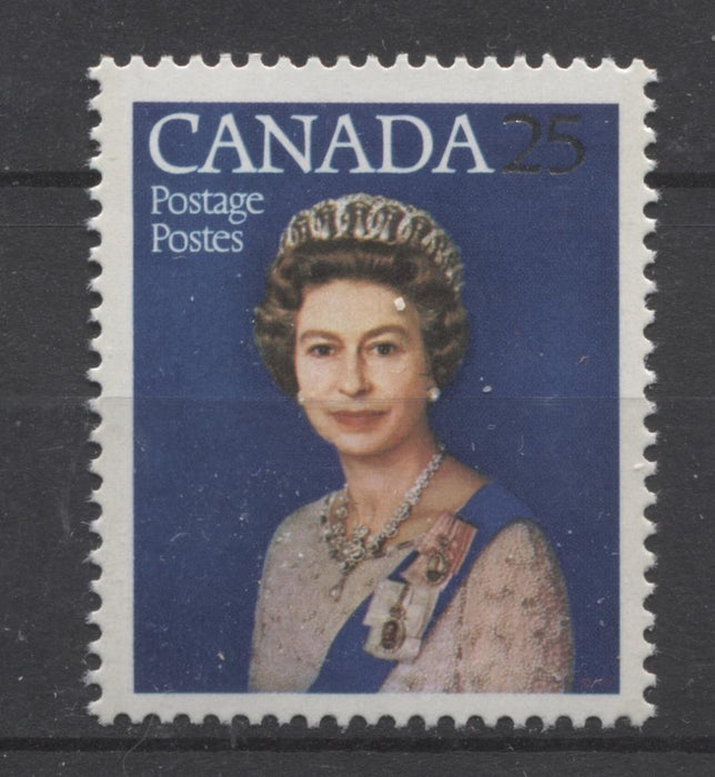 Canada #704 (SG#855) 25c Multicoloured Queen Elizabeth II 1977 Silver Jubilee Issue Paper Type 2 F-70 NH Brixton Chrome
