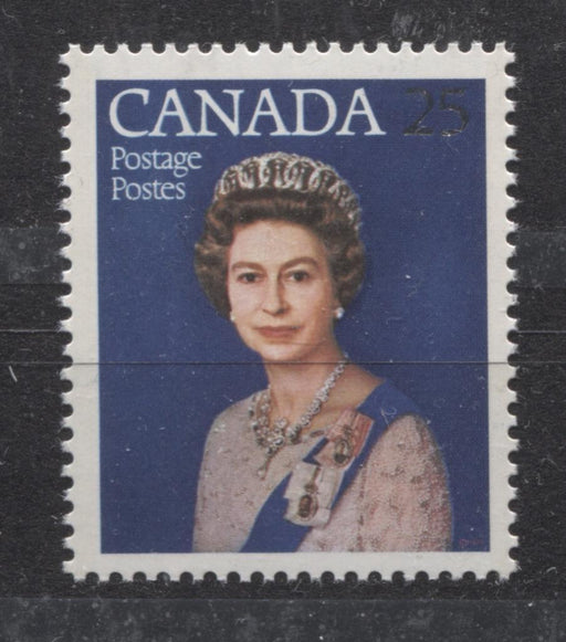 Canada #704 (SG#855) 25c Multicoloured Queen Elizabeth II 1977 Silver Jubilee Issue Paper Type 2 VF-75 NH Brixton Chrome