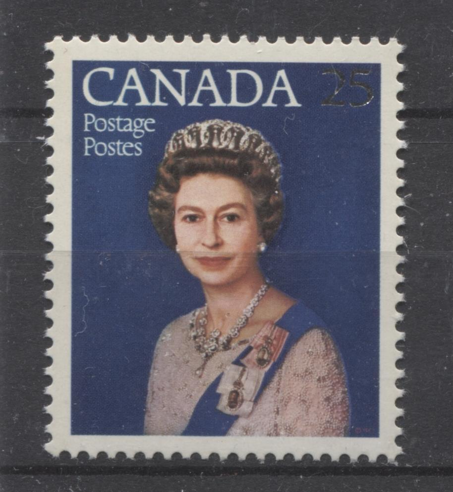 Canada #704 (SG#855) 25c Multicoloured Queen Elizabeth II 1977 Silver Jubilee Issue Paper Type 2 VF-80 NH Brixton Chrome