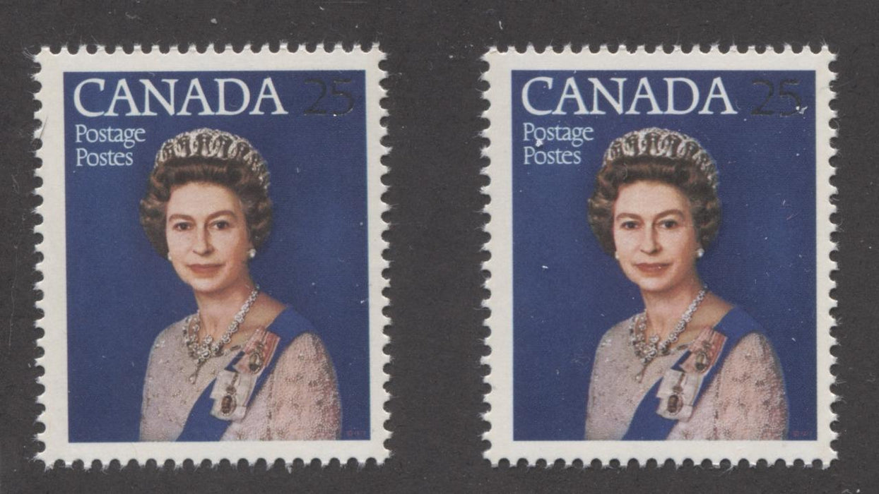 Canada #704 (SG#855) 25c Multicoloured Queen Elizabeth II 1977 Silver Jubilee Issue Paper Types 5 & 6 VF-75 NH Brixton Chrome