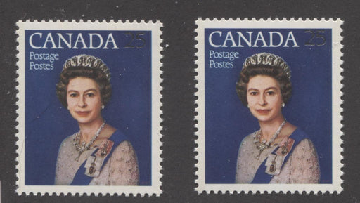 Canada #704 (SG#855) 25c Multicoloured Queen Elizabeth II 1977 Silver Jubilee Issue Paper Types 5 & 6 VF-80 NH Brixton Chrome