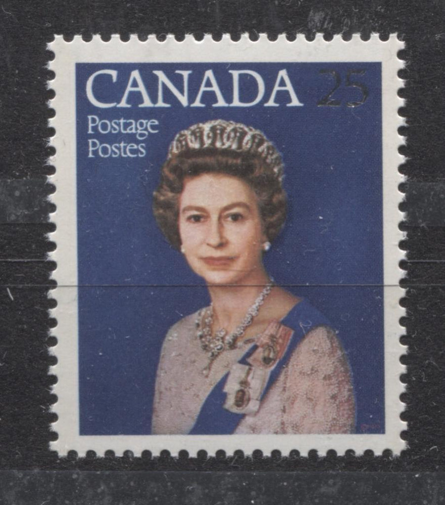 Canada #704ii (SG#855) 25c Multicoloured Queen Elizabeth II 1977 Silver Jubilee Issue Paper Type 5 VF-75 NH Brixton Chrome