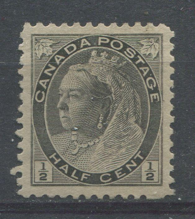 Canada #74i (SG#150) 1/2c Grey 1898-1902 Numeral Issue Horizontal Wove Paper VF-80 Unused Brixton Chrome