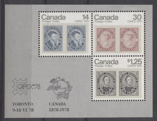 Canada #756a (SG#MS917) 1978 $1.69 Capex 78 Issue Souvenir Sheet on DF-fl Paper VF-84 NH Brixton Chrome