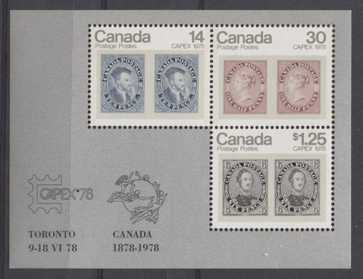 Canada #756ai (SG#MS917) 1978 $1.69 Capex 78 Issue Souvenir Sheet on LF-fl Paper VF-75/80 NH Brixton Chrome