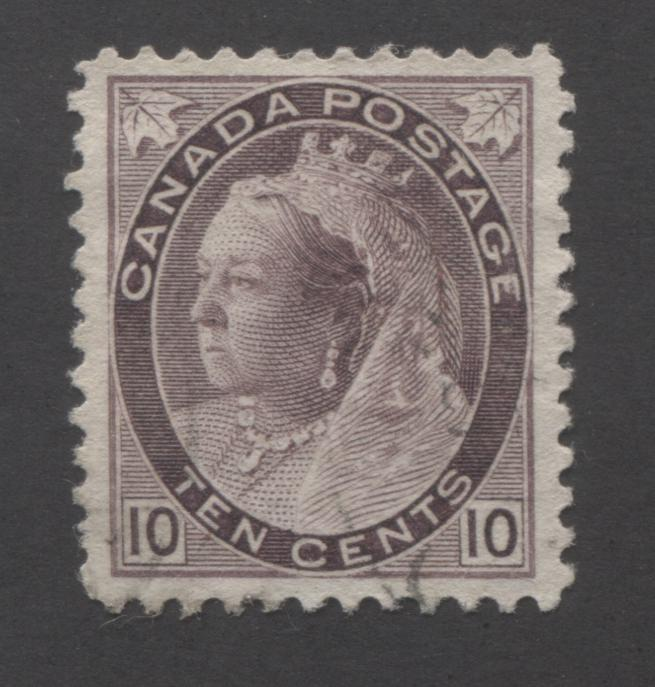 Canada #83 10c Brown Violet, Queen Victoria 1898-1902 Numeral Issue Very Fine Used Single on Horizontal Wove Paper Brixton Chrome