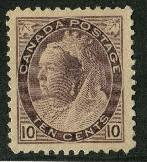 Canada #83i (SG#164) 10c Deep Brown Violet 1898-1902 Numeral Issue Horizontal Wove Paper VF-82 OG Brixton Chrome