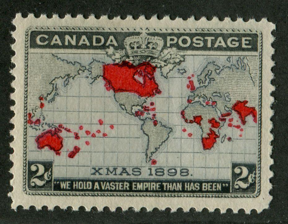 Canada #85 (SG#166) 2c Lavender, Carmine & Black 1898 Christmas Multiple Varieties VF-78 OG Brixton Chrome