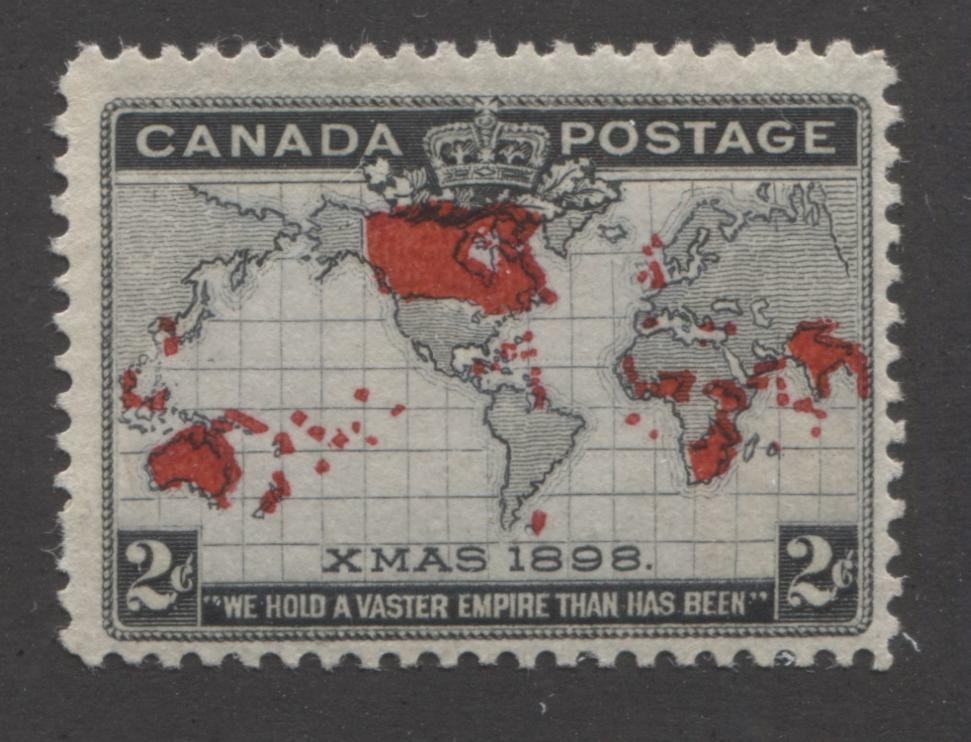 Canada #85i 2c Grey, Black and Carmine, Mercator's Projection 1898 Imperial Penny Postage Issue Fine Mint OG Single Brixton Chrome