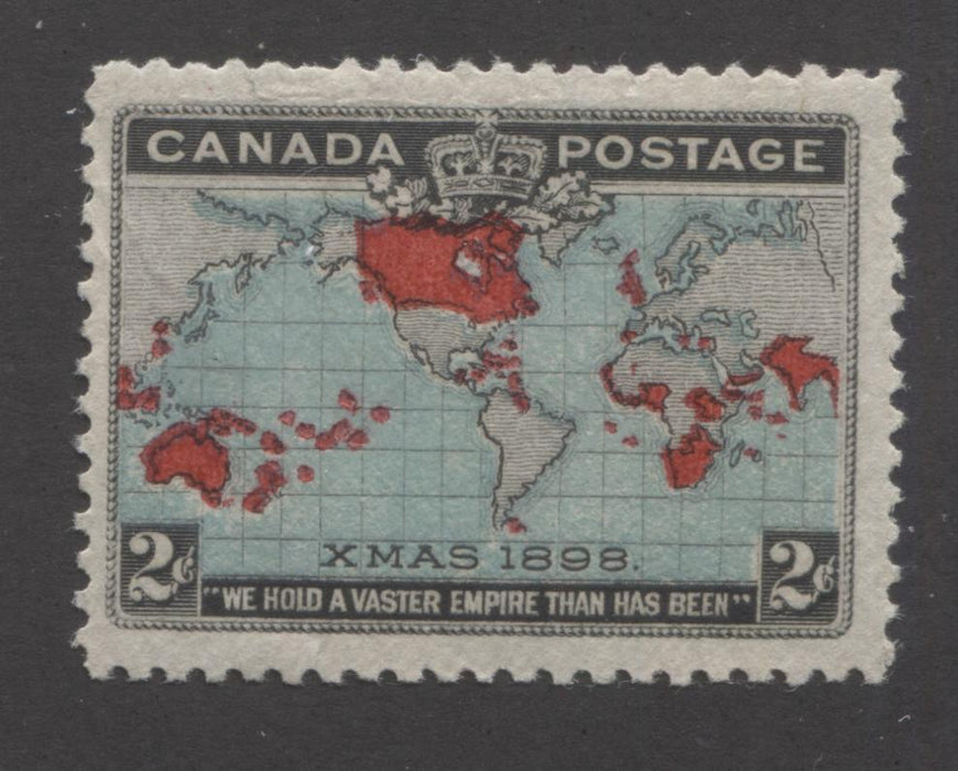 Canada #86b 2c Deep Blue, Black and Carmine, Mercator's Projection 1898 Imperial Penny Postage Issue Fine Mint OG Single Brixton Chrome