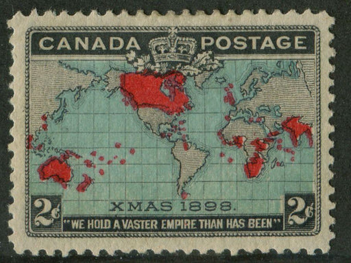 Canada #86b (SG#168) 2c Deep Blue, Carmine & Black 1898 Christmas Multiple Vars VF-76 OG HR Brixton Chrome