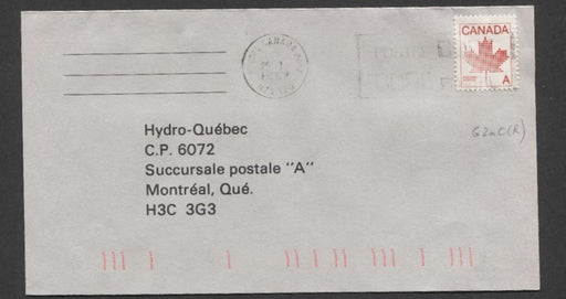 Canada #907ii G2aC (SG#1030) 30c Red 1981 Maple Leaf Definitive 1-Bar Tag On Cover DF XF-91 Brixton Chrome