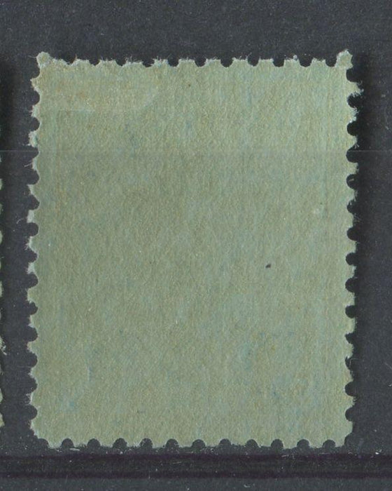 Canada #91 (SG#178) 5c Dark Blue Edward VII Worn Plate Vertical Wove Paper With No Mesh VF-76 OGLH Brixton Chrome