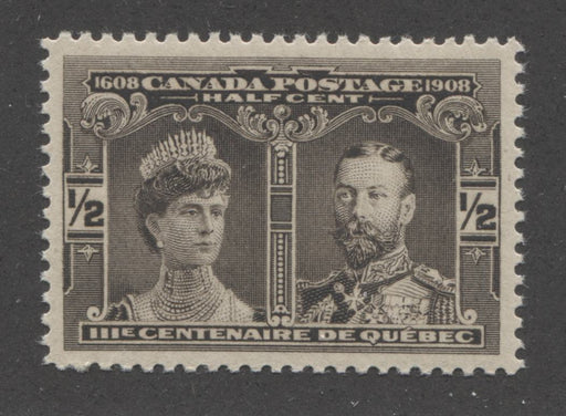 Canada #96 (SG#188) 1/2c Brown Black Quebec Tercentenary , A Very Fine Mint NH Example Brixton Chrome