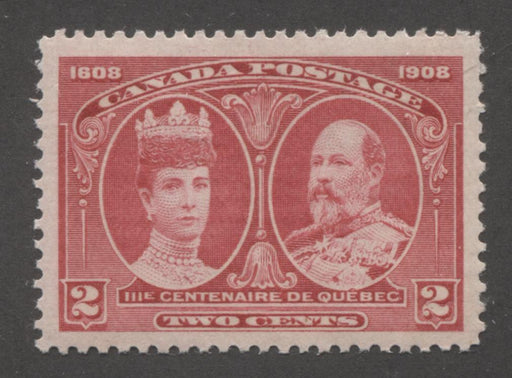 Canada #98 2c Deep Carmine Rose Queen Alexandra and King Edward VII, 1908 Quebec Tercentenary Issue Brixton Chrome