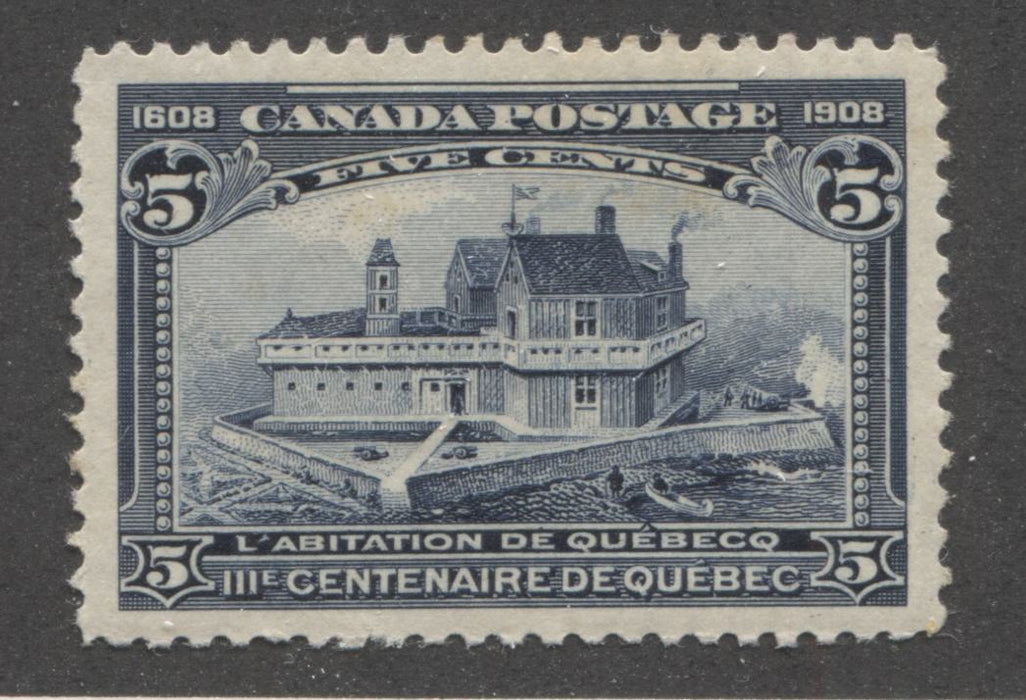 Canada #99 (SG#191) 5c Dark Blue Quebec Tercentenary Issue, A Very Fine Mint OG Example Brixton Chrome