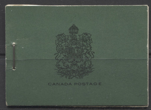 Canada #BK14a-b 1930-1933 Arch Issue, Complete 25¢ English Booklet, 12 mm Staple, Vertical Wove Paper Brixton Chrome VF-75 Plain, with no markings