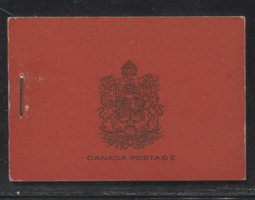 Canada #BK16a 1930-1933 Arch Issue, Complete 25¢ English Booklet, 12 mm Staple, Vertical Wove Paper, Typographed Covers Brixton Chrome