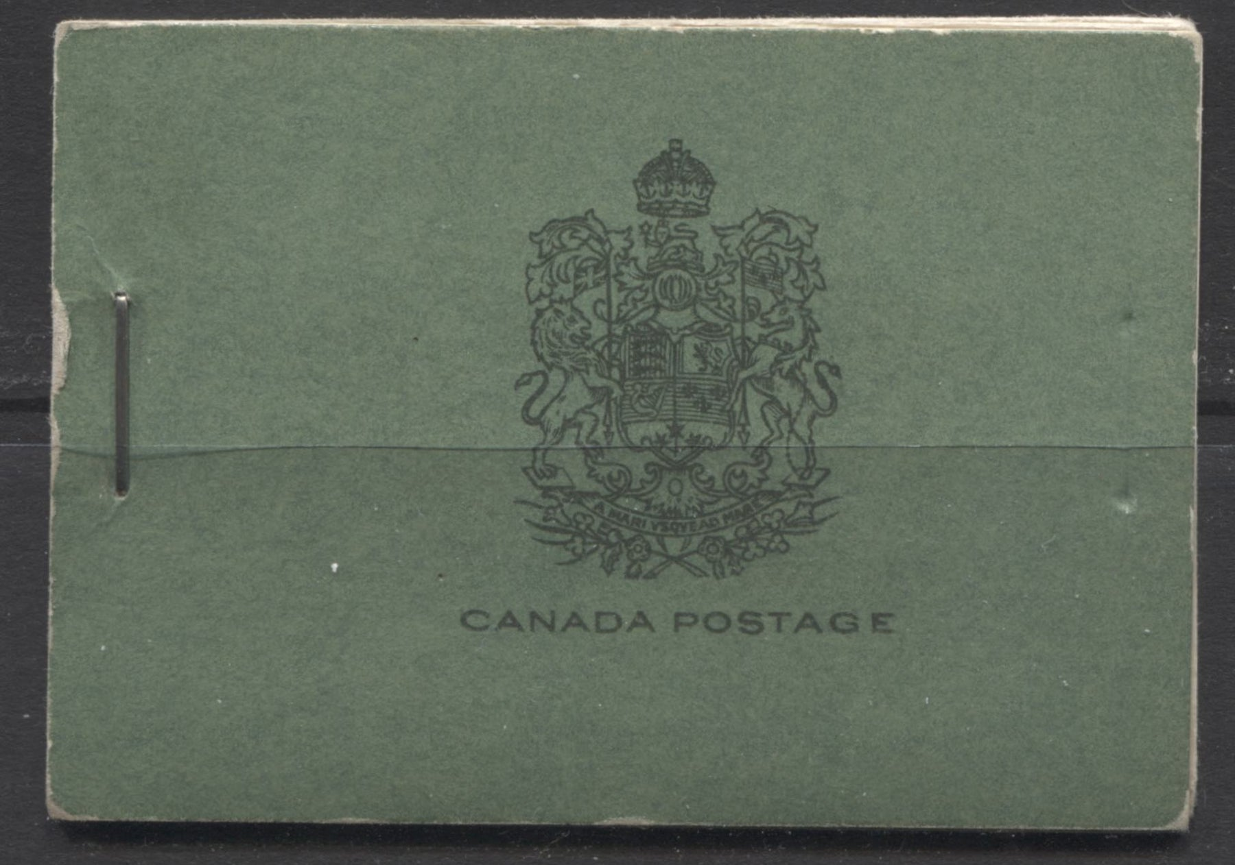 Canada #BK20a-d 1933-1934 Medallion Issue, Complete 25¢ English Booklet, 12 mm Staple, Vertical Wove Paper Brixton Chrome
