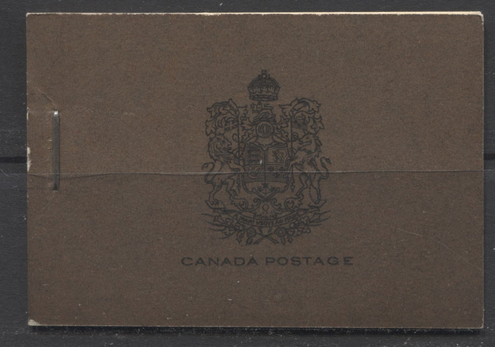 "Canada #BK21a-d 1933-1934 Medallion Issue, Complete 25¢ English Booklet, 12 mm Staple, Vertical Wove Paper Brixton Chrome VF-80 Plain, with no markings Type 2 - ""Register"""