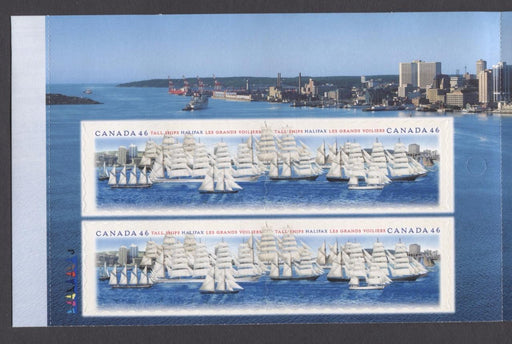 Canada #BK230b (SG#SB243) $4.60 2000 Tall Ships Booklet LF/MF Paper Open Cover VF-84 NH Brixton Chrome