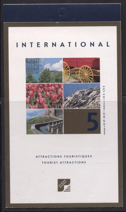 Canada #BK244b (SG#SB256) $5.25 2001 Tourist Attractions Booklet MF/HF Paper Open Cover VF-84 NH Brixton Chrome