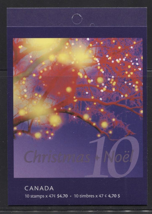 Canada #BK248b (SG#SB261) 47c 2001 Christmas Lights Complete Booklet of 10 VF-84 NH Brixton Chrome