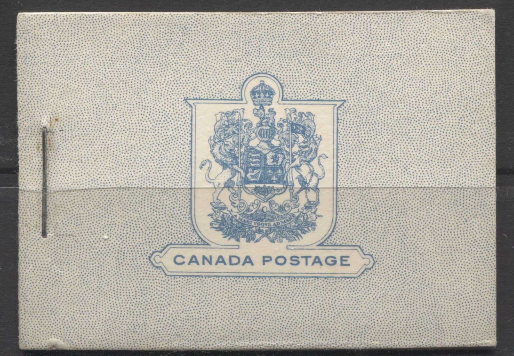 Canada #BK27 1935-1937 Dated Die Issue , Complete 25¢ English Booklet, 16-17 mm Staple, Vertical Wove Paper Brixton Chrome F-65